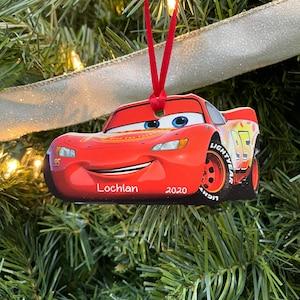 "Disney Cars Blue 17/"" Christmas Stocking Lightning McQueen Mater Holiday Gift New"