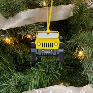 Ornament with Name Custom compatible with Jeep 3D Printed