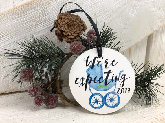 Expecting Christmas Ornaments.We Re Expecting Christmas Ornament Pregnant Ornament Pregnancy Announcement 2019 Ornament 2020