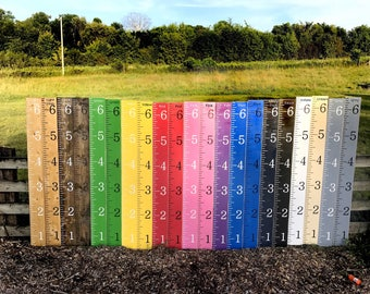 Growth chart ruler / kids growth chart rulers / wooden growth chart / nursery/ height measuring stick / hand painted / baby gift / kids room
