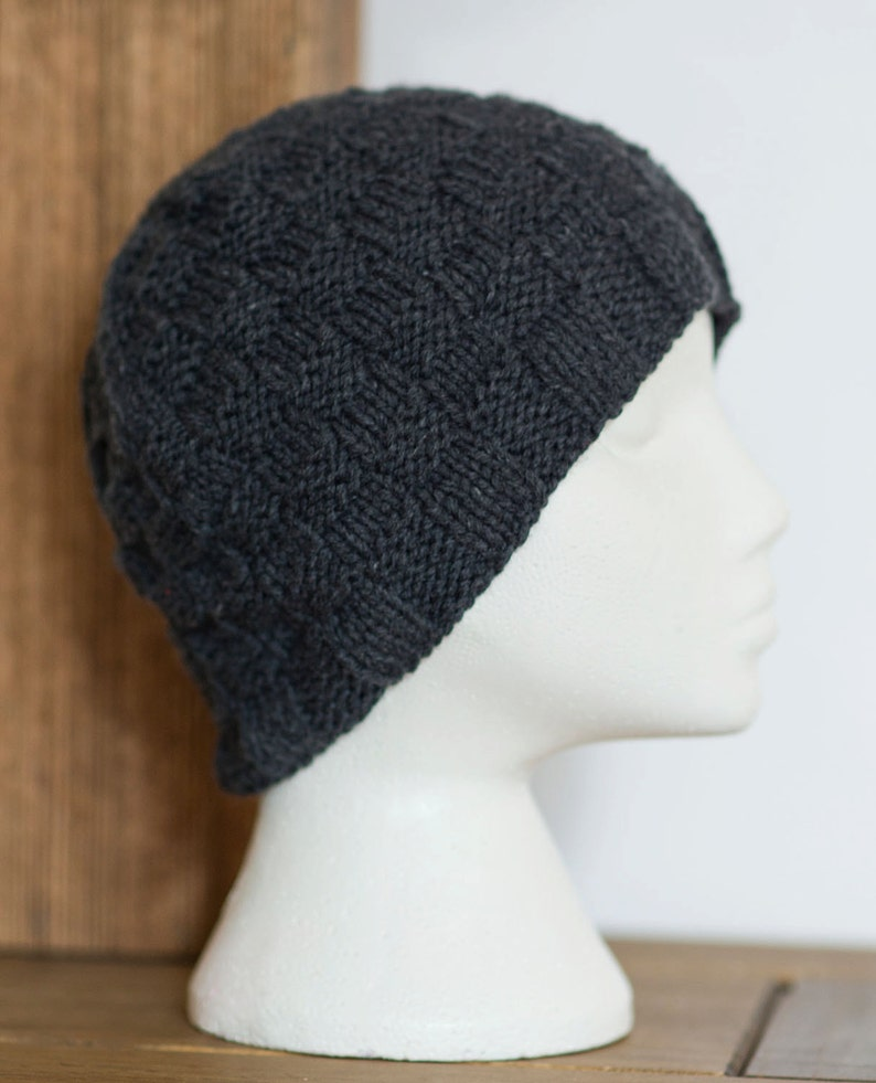 58e17d80220 Women Cashmere Hat Silk Grey Beanie Italian Charcoal Grey