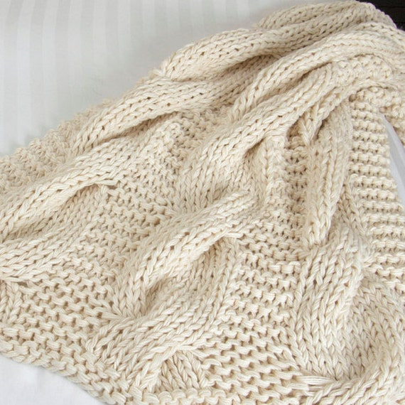 Chunky Knit Blanket Huge Cable Black Throw Chunky Afghan Etsy Unique Cream Chunky Throw Blanket