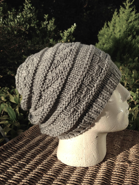 e24980e00a1 Men Cashmere Hat Silk Grey Hat Long Slouchy Beanie Hat