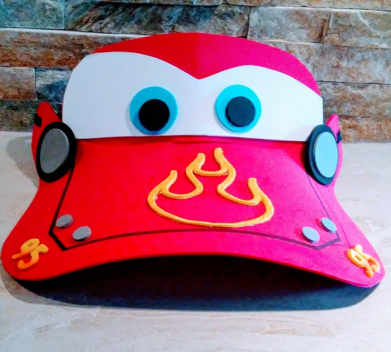 e7d3523eae4 Disney Car hat  Ray McQueen Visor  Disney Hat