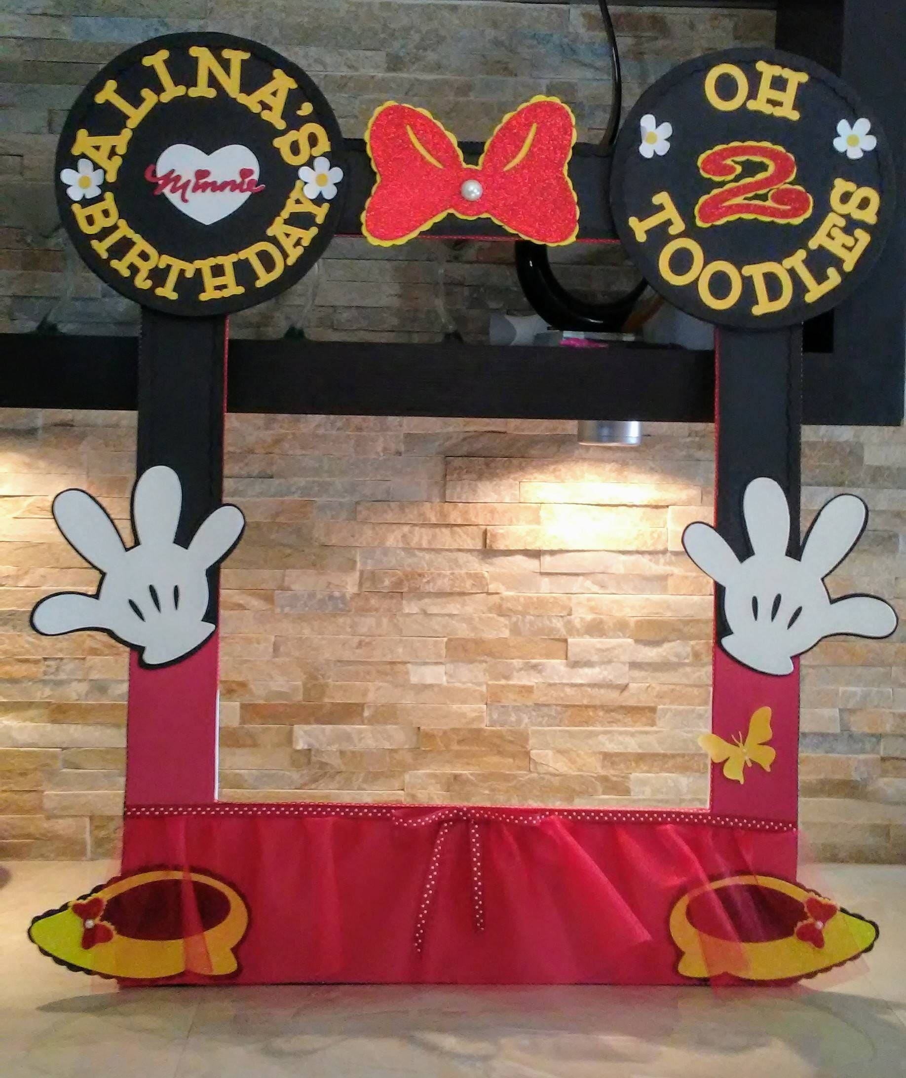 Minnie Mouse Photo Booth Rahmen | Etsy
