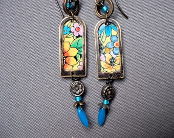 #20,515 Vintage Tin Earrings -