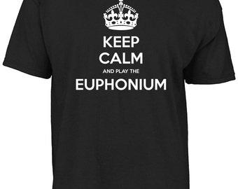 Keep calm and play the euphonium t-shirt