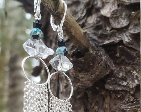 Herkimer Diamond Dangle Earrings