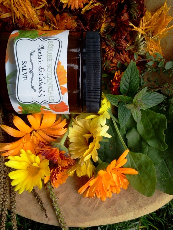Handcrafted Plantain and Calendula Medicinal Salve