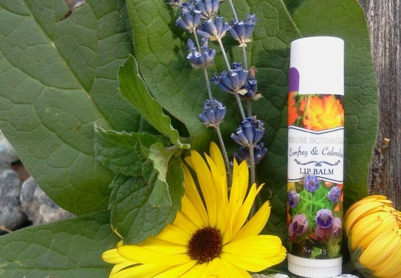 Comfrey and Calendula Lip Balm