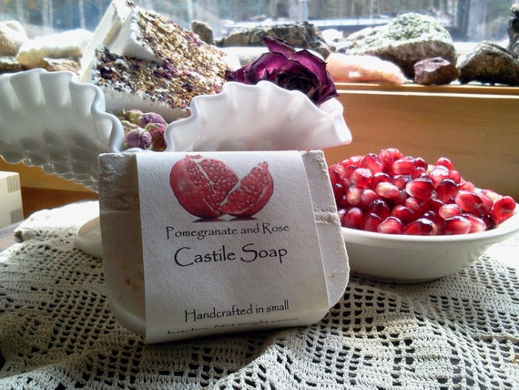 Pomegranate and Rose Castile Soap