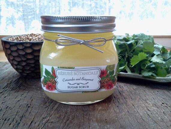 Coriander and Bergamot Sugar Scrub