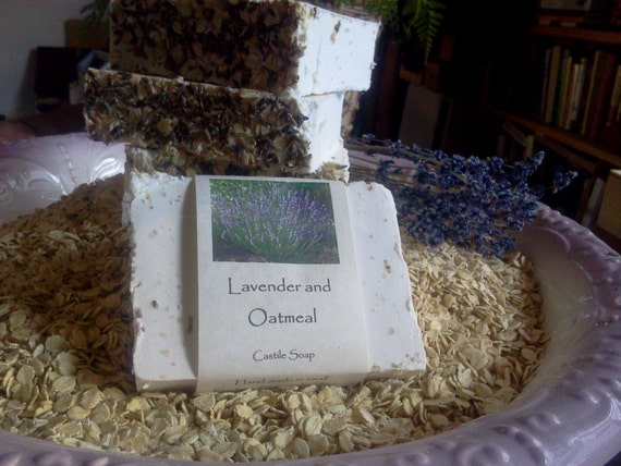 Lavender and Oatmeal Castile Soap