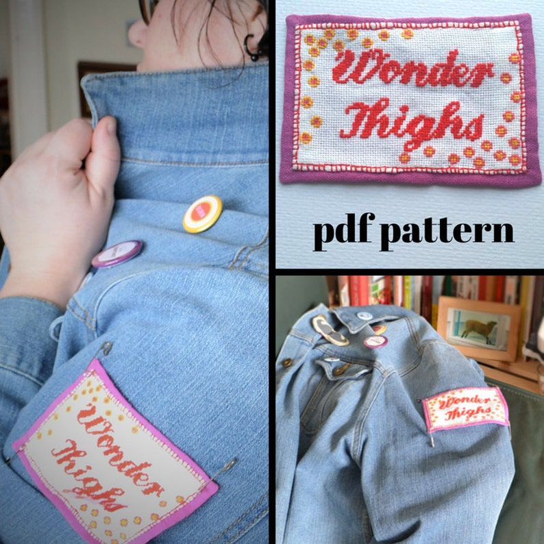 Wonder Thighs PDF Cross Stitch Pattern image 0