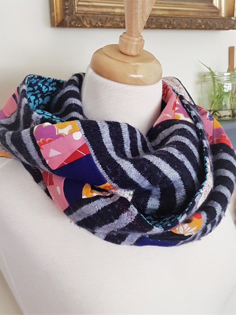So Cosy  Upcycled Scarf  One of a Kind image 0