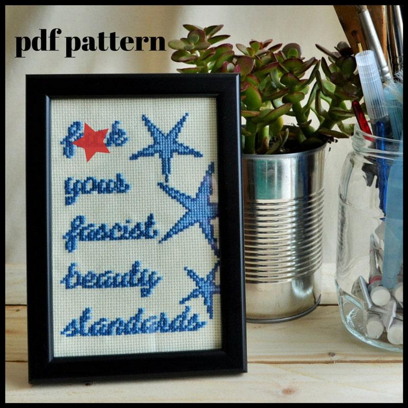 Fck Your Fascist Beauty Standards PDF Pattern image 0