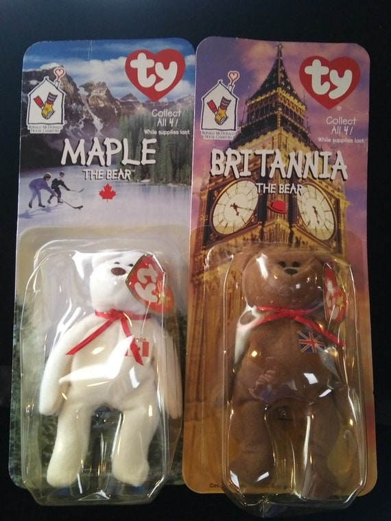 New Ty Maple The Bear Ronald Mcdonald House Charities Teenie Beanie Baby