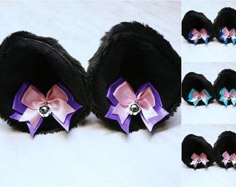 Oreille de Patte Ensemble de Fantaisie Neko Gant en Peluche Bandeaux doreille de Chat Accessoire de Costume Woorea Anime Cosplay Femme de Chambre Lolita
