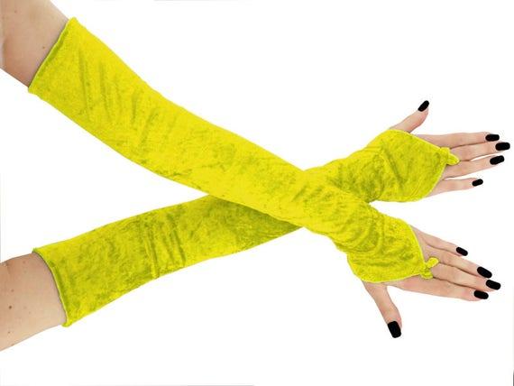 armstulpen für damen, edle fingerlose handschuhe aus feinster elastischer stoff, ergänzung zu einem abendkleid 0975