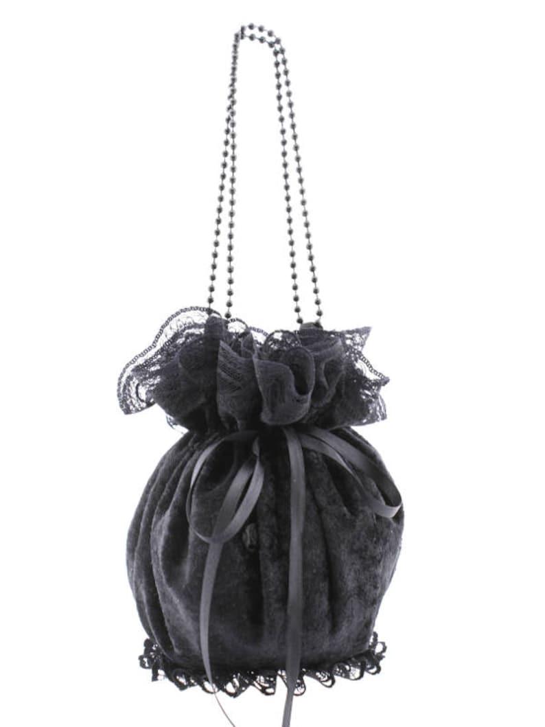 be7f9620d8 nero borsetta da donna, borsa - sacchetto da polso, pochette tipo  borsellino per uno stile pompadour o festa o cerimonia stile gothic4