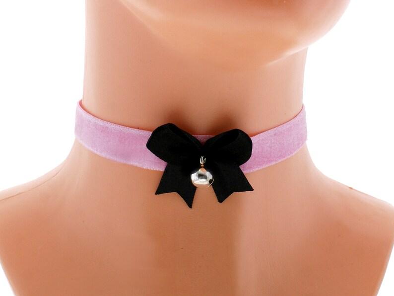 velvet choker necklace satin velvet kitten play collar ddlg collar lolita princess collar day collar kawaii bell choker kittenplay collar F5