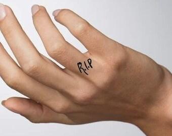 Heart Finger Tattoo Etsy