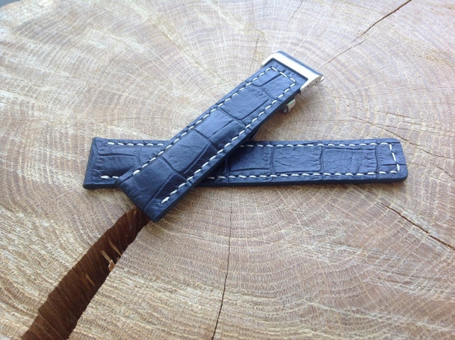 60697782a Leather Watch Strap 22mm for Deployment Buckle Genuine | Etsy