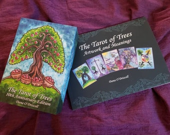 LARGE DECK & BOOK - The Tarot of Trees Set Large Fourth Edition, 10 Year Anniversary edition.