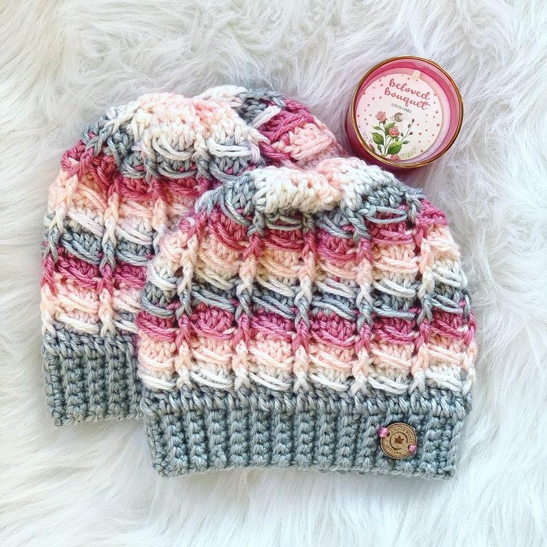 2d1afae5225 The ALPS Beanie   MESSY BUN Hat Pattern Crochet Hat Pattern