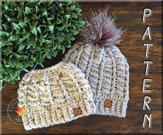 Messy Bun Hat Pattern Crochet Hat Pattern Crochet Pattern Etsy