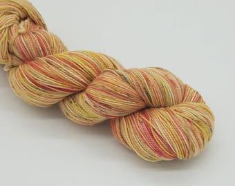 Hand Dyed Superwash Merino Wool Sock Yarn- Autumn Leaves, merino 2 ply
