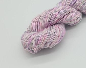 Hand Dyed Superwash Merino Wool Sock Yarn- Sweet Pea, Merino 2 ply