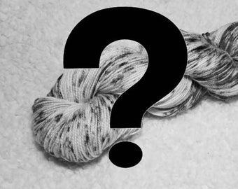 Mystery sock yarn, handdyed sock yarn, indie dyed, sock yarn, superwash nylon yarn, surprise mystery yarn