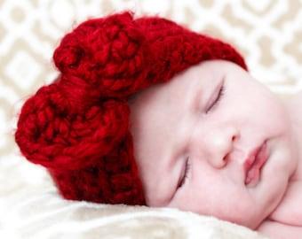 Chunky Crochet Bow Headband