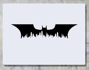 gotham city skyline etsy