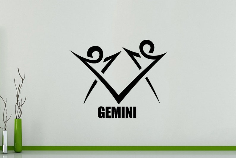 Zodiac Gemini - Sign Symbol Horoscope Bedroom Picture Decal