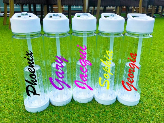 Personalized Fruit infuser water bottles love style and kids Island too