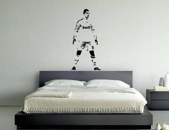 Cristiano Ronaldo Stehend Kinder Schlafzimmer Aufkleber Wandkunst Aufkleber Bild
