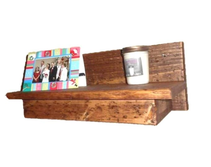 "19"" Wooden Wall Shelf Hidden Compartment"