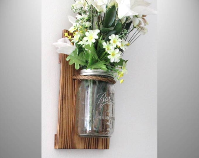 Mason Jar Wall Sconce Clear Quart