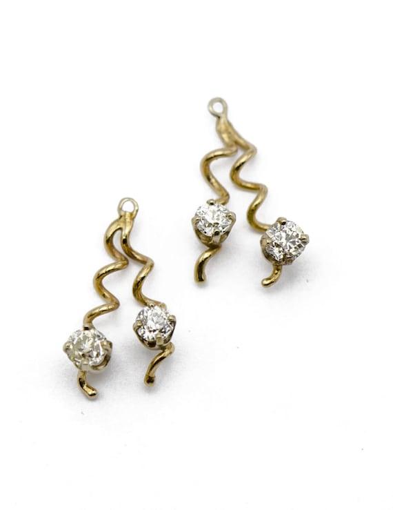 Vintage Spiral Earrings Jackets