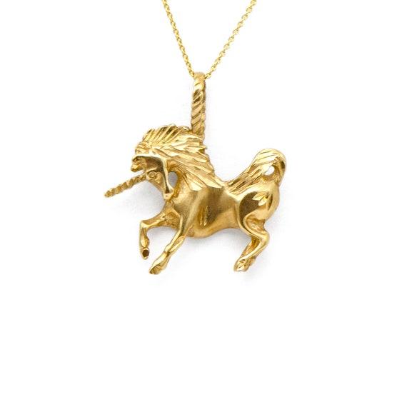 Vitnage 14k Yellow Gold Unicorn Charm