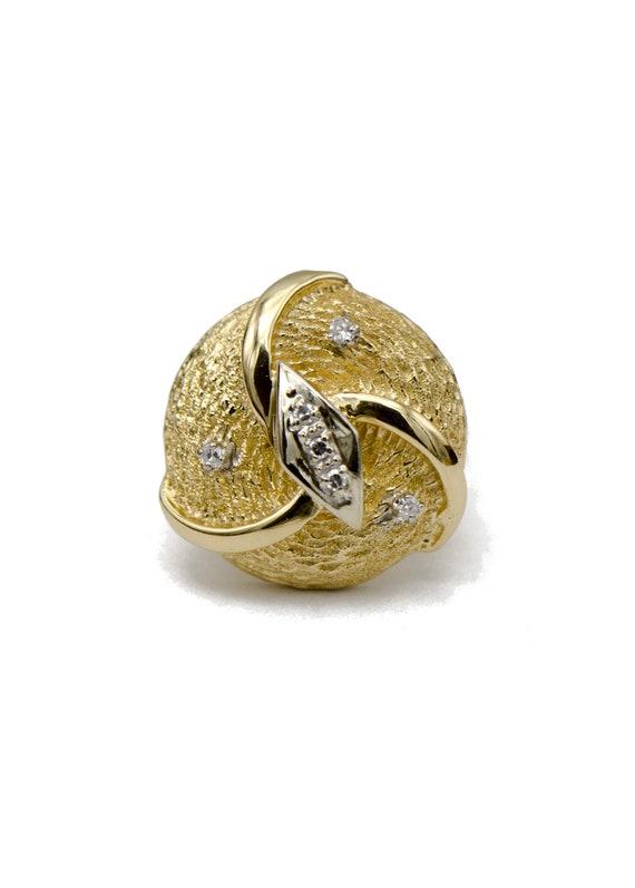 Gold Diamond Cocktail Ring