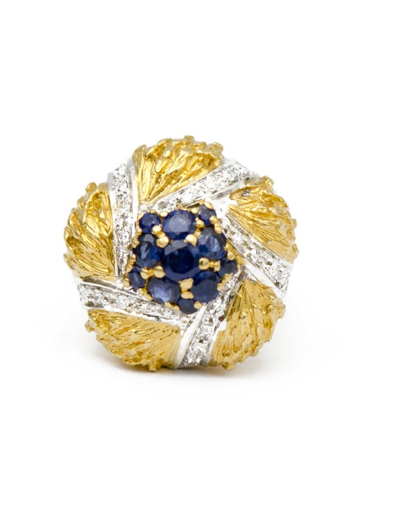 Sapphire Gold Cocktail Ring