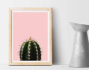 Pink cactus - Instant download - Art