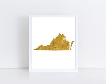 Virginia -  Usa Printable art , Instant download, Wall art deco