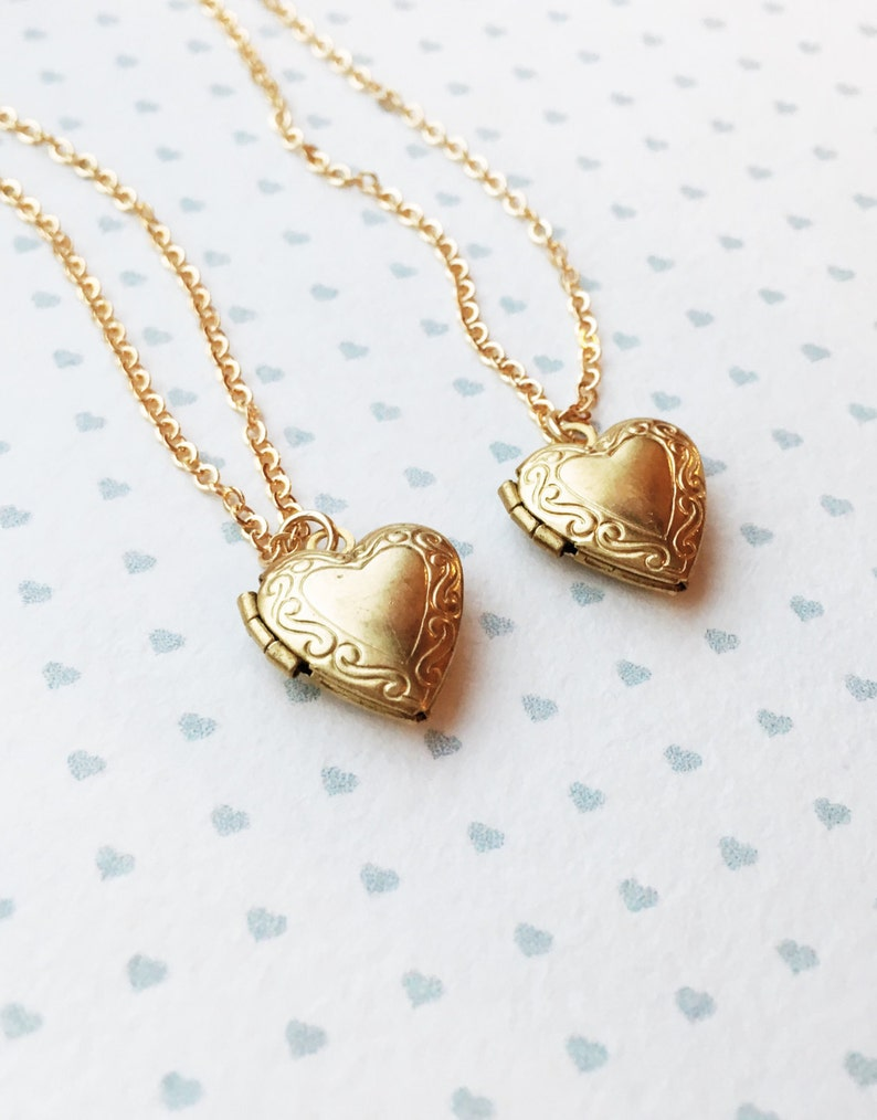 2b9bbe1e59aaf Tiny Locket Necklace 14k gold filled chain   Little Heart