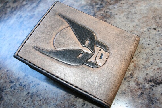 84a5d7433d75b X-Men Wallet - Tooled Leather Wallet - Hand Carved - Bifold - Made In The  USA