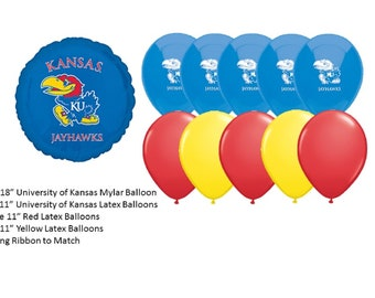 University of Kansas Balloons, Jayhawks balloons, University of Kansas Jayhawks Balloons, Kansas University balloons
