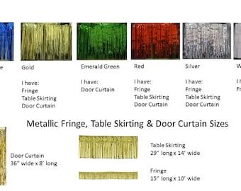 Fringe Door Curtain, Fringe Table Skirting, Metallic Fringe